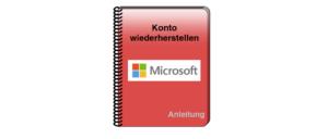 Microsoft Konto wiederherstellen