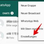 WhatsApp Anleitung Android Backup einrichten 1