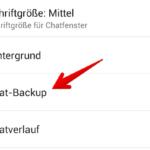 WhatsApp Anleitung Android Backup einrichten 3