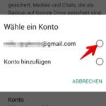 WhatsApp Anleitung Android Backup einrichten 5