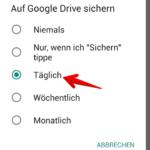 WhatsApp Anleitung Android Backup einrichten 8