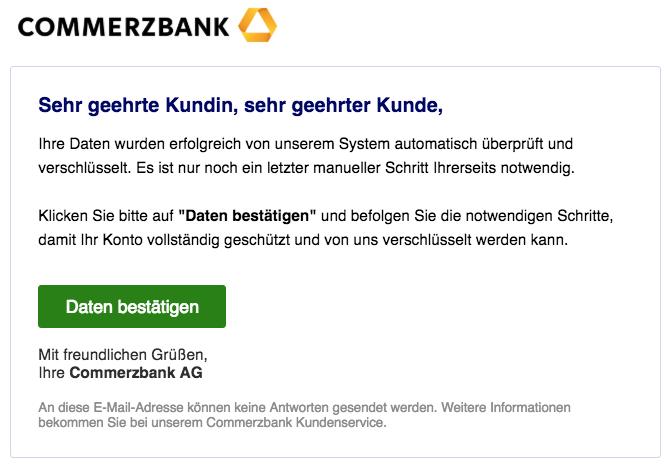 2018-09-10 Commerzbank E-Mail Spam Fake Daten bestätigen