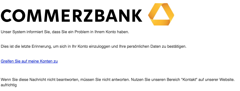 2018-09-18 Commerzbank Spam Mail FWD-Re