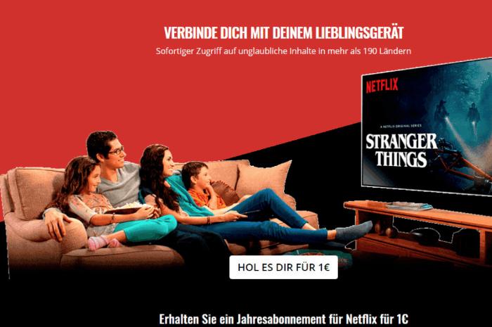 2018-09-18 Netflix Fake-Mail Jahresabonnement 1 Euro