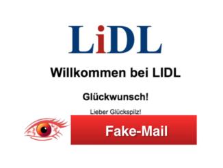 2018-09-19 Werbung im Namen von Lidl Umfrage Belohnung