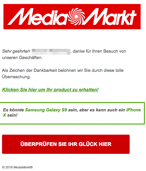 2018-09-20 Media Markt Spam Mail
