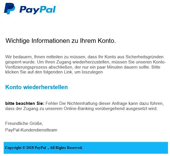 2018-09-21 PayPal Phishing