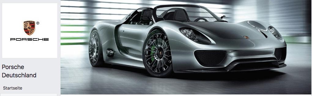 2018-09-24 Fake Facebook-Seite im Namen von Porsche Deutschland