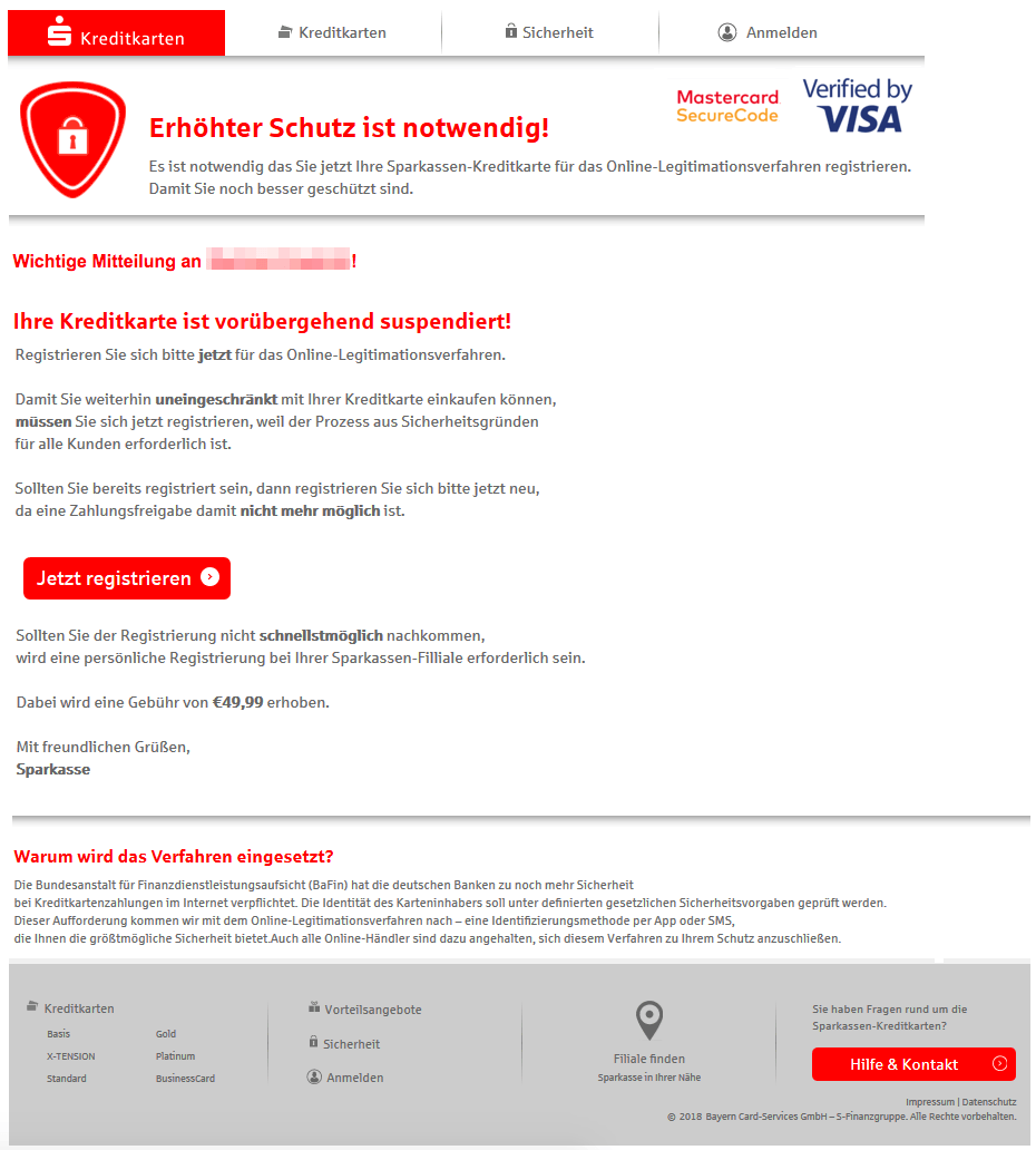 2018-09-27 Sparkasse Phishing