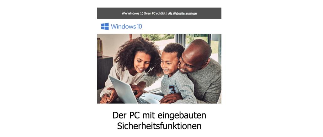 2018-09-28 Microsoft E-Mail Windows 10 Sicherheitstipps