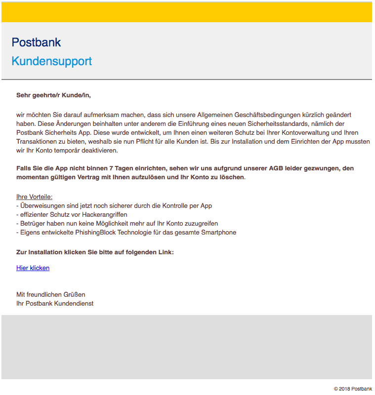 2018-10-02 Postbank Phishing