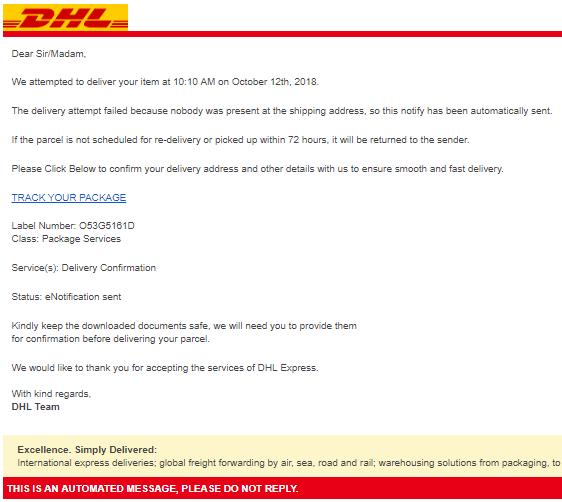 2018-10-15 DHL Phishing
