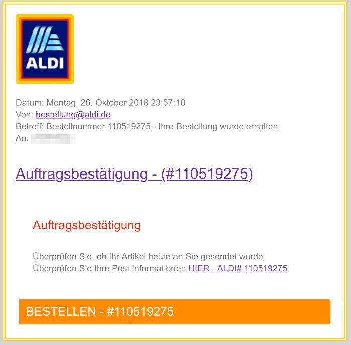 2018-11-10 Aldi Fake-Mail Gewinnspiel Datensammler