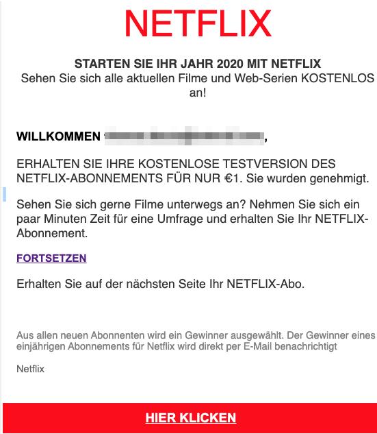 2020-02-11 Netflix Fake-Mail Testabo 1 Euro