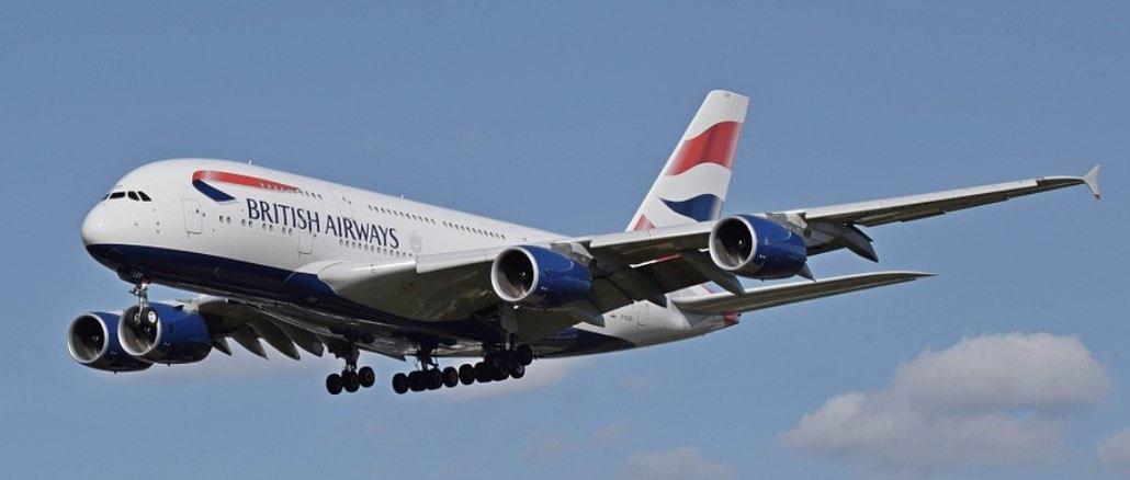 Flugzeug British Airways Symbolbild