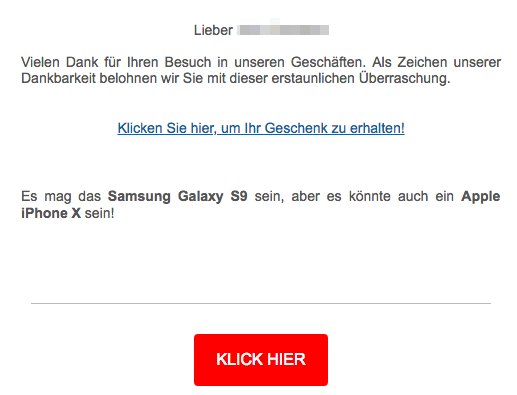 Media Markt Spam Mail