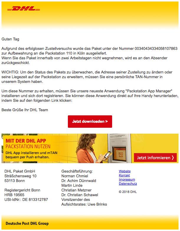2018-10-04 DHL Mail Virus