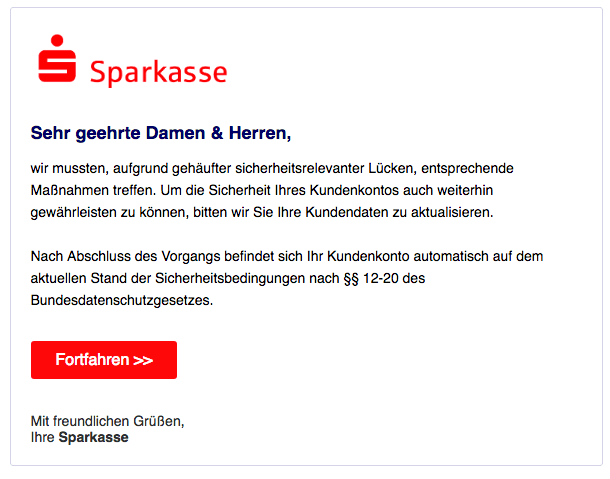 2018-10-09 Sparkasse Phishing