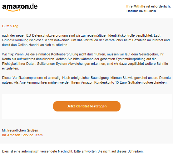 2018-10-13 Amazon Phishing