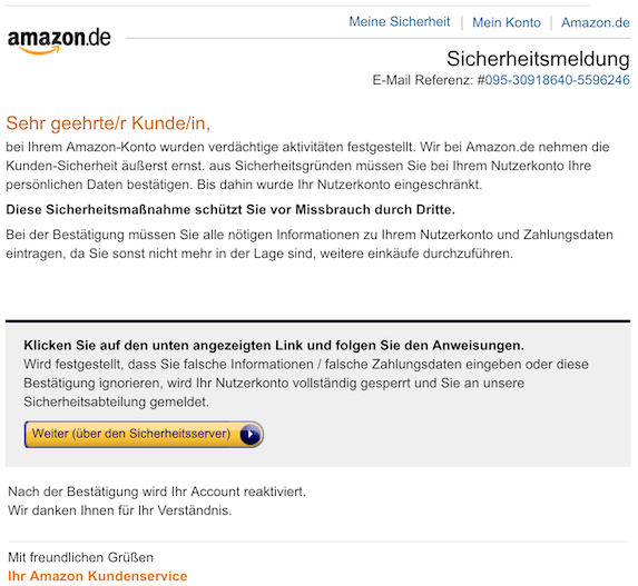 2018-10-14 Amazon Phishing