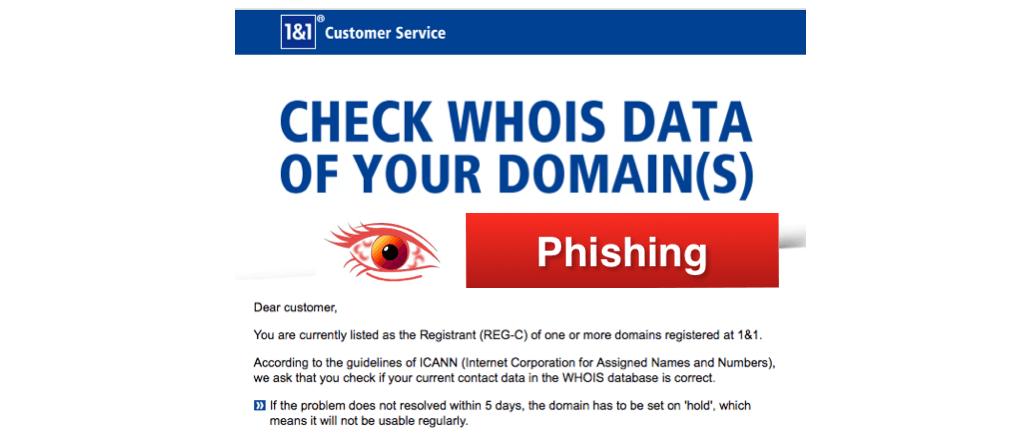 Phishing Nachrichten Im Namen Von 11 Internet Se Vorsicht Spam