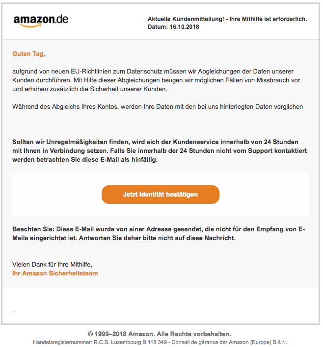 2018-10-16 Amazon Phishing