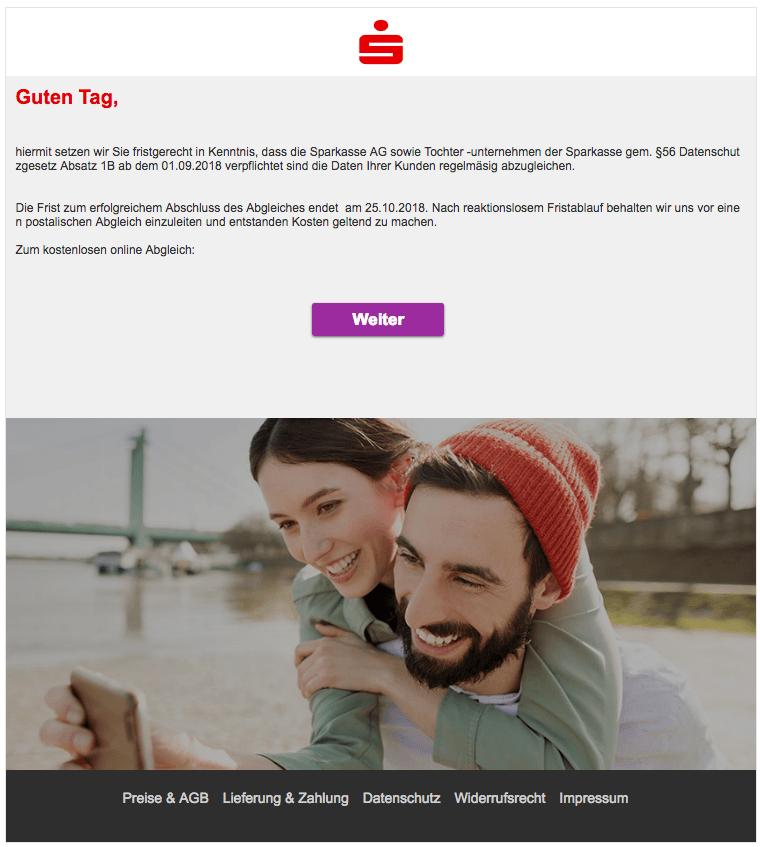 2018-10-18 Sparkasse Phishing