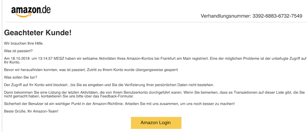 2018-10-19 Amazon Phishing 2