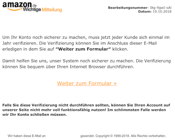 2018-10-19 Amazon Phishing