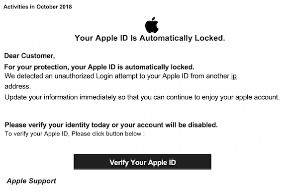 2018-10-19 Apple ID Phishing