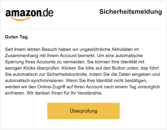 2018-10-23 Amazon Phishing
