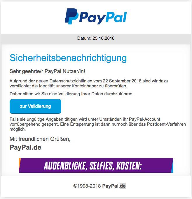 2018-10-26 Phishing PayPal