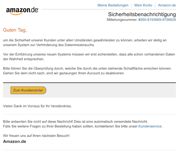 2018-10-27 Amazon Phishing