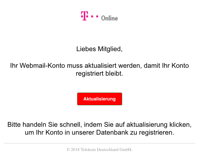 2018-10-27 T-Online Telekom Spam-Mail Warnung- Bestaetigen Sie jetzt Ihre T-Online Webmail