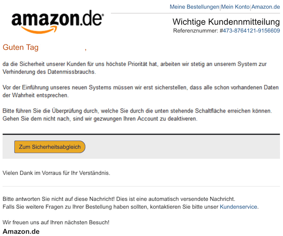 2018-10-28 Amazon Phishing