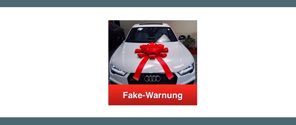 2018-10-29 Facebook Fake-Gewinnspiel Audi RS7