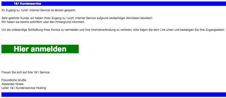 web de anmeldung fehlgeschlagen