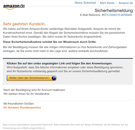 2018-11-04 Amazon Phishing