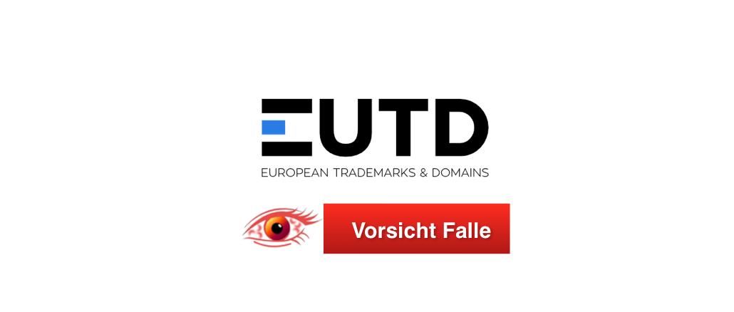 2018-11-05 Vorsicht Falle European Trademarks & Domains eutd.org
