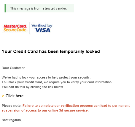 2018-11-24 Mastercard Visacard Spam-Mail Notice - Disabled Access