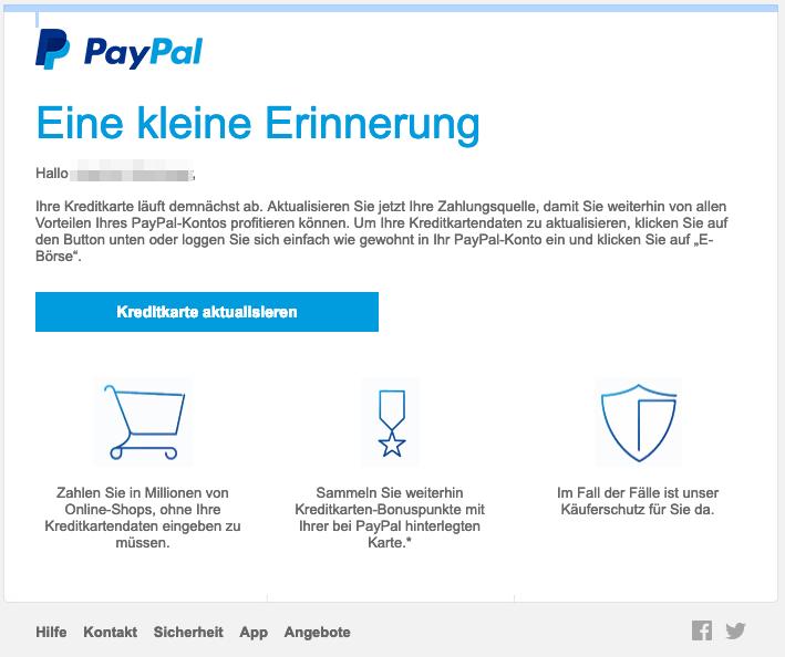 Paypal Kreditkarte Umgehen