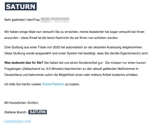 2021-02-12 Saturn Spam Fake-Mail