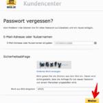 Anleitung web-de Passwort ändern 1
