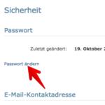 Anleitung web-de Passwort ändern 12