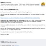 Anleitung web-de Passwort ändern 3
