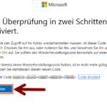 Microsoft zweistufige Authentifizierung 10