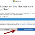Microsoft zweistufige Authentifizierung 7