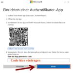 Microsoft zweistufige Authentifizierung 8