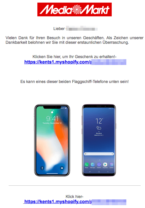 MediaMarkt Spam Mail