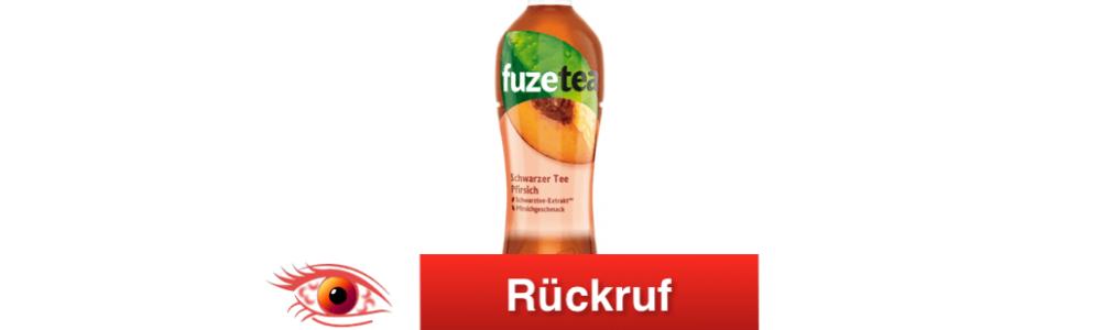 Coca Cola: Rückruf von Fuze Tea Schwarzer Tee Pfirsich